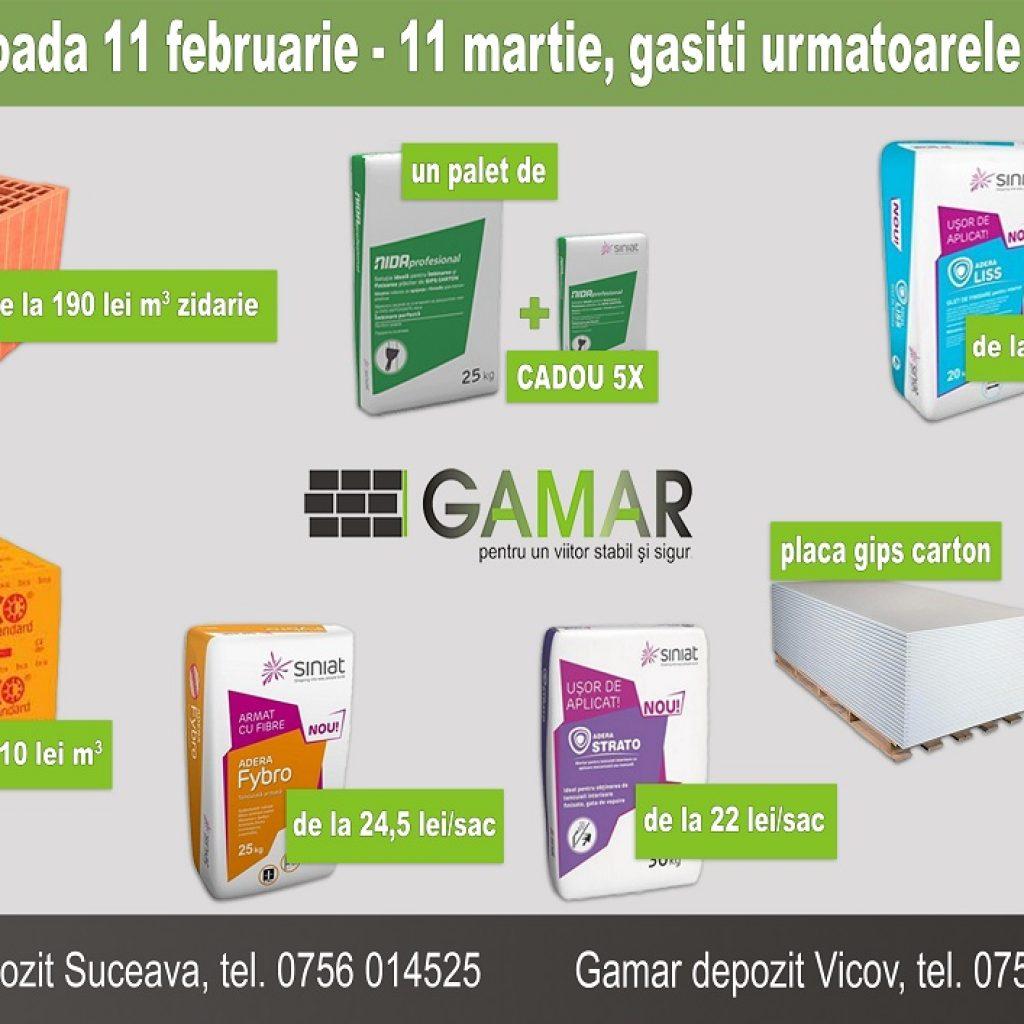 Oferta lunii la Gamar